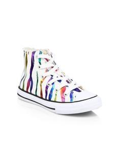 Converse Girl's Zebra-Print Chuck Taylor All Star High Top Sneakers