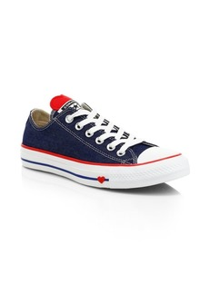 Converse Heart Low-Top Denim Sneakers