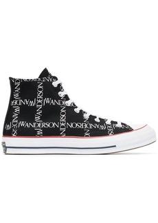 Converse x JW Anderson Black Logo Print Sneakers