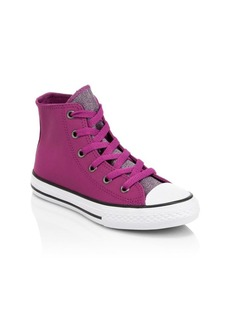 Converse Kid's Chuck Taylor All Star Glitter Leather High-Top Sneakers