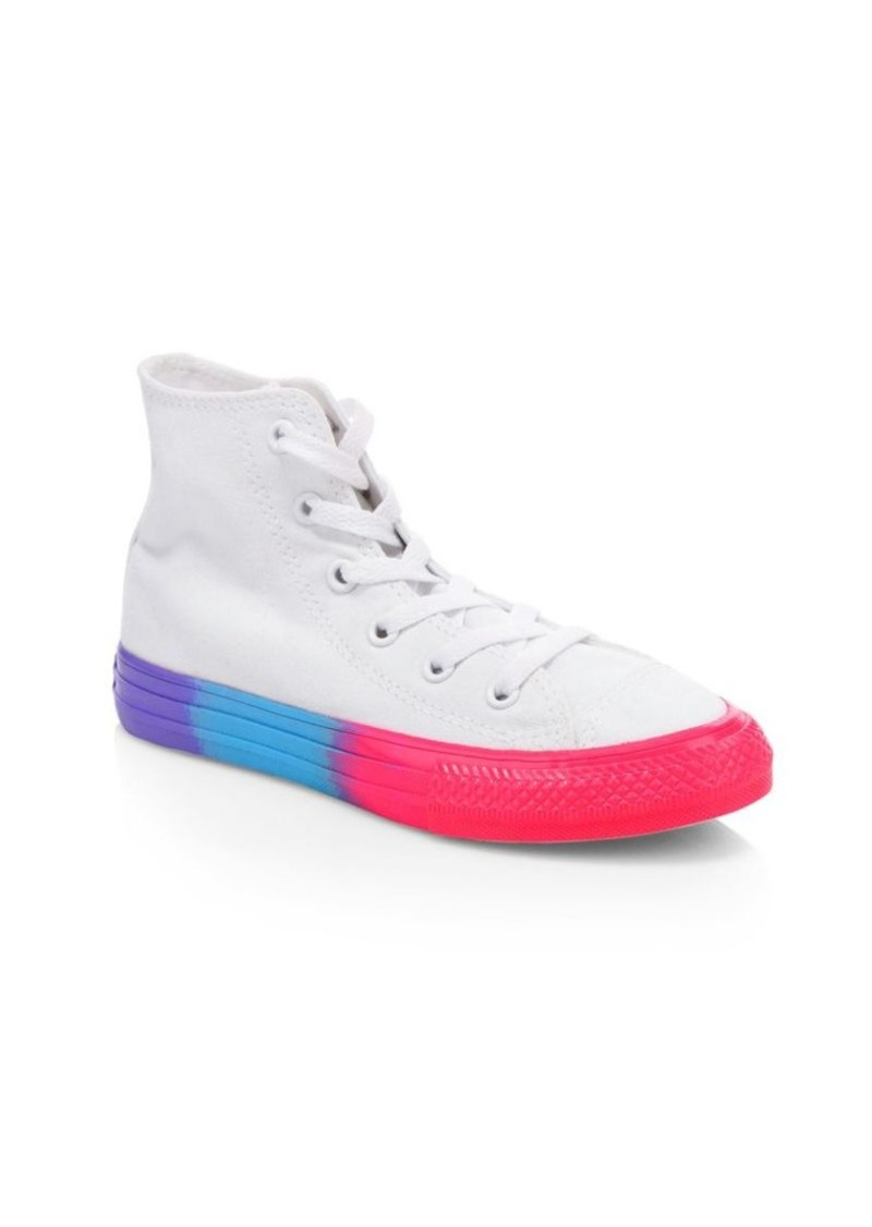 Converse Kid's Chuck Taylor All-Star High-Top Contrast Sole Sneakers