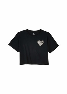 Converse Left Chest Heart Cropped Tee