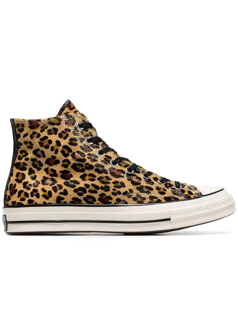 grosses soldes beau look code promo Leopard print Chuck Taylor 70's high-top sneakers