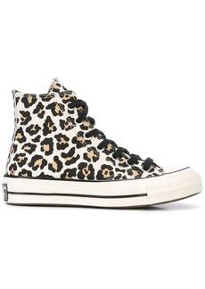 Converse leopard print hi-tops