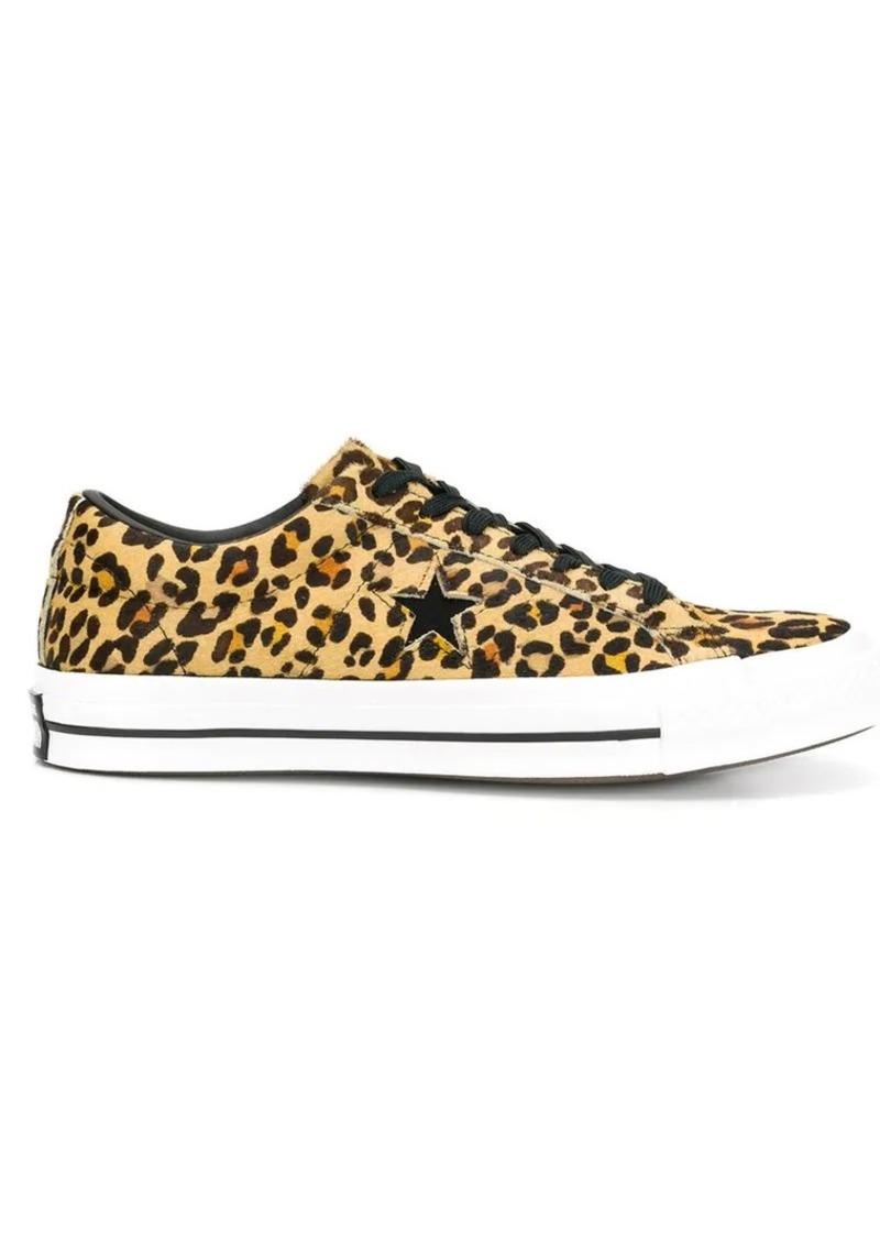 Converse leopard print sneakers | Shoes
