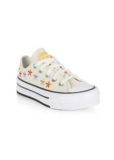 Converse Little Kid's & Kid's Spring Flowers Platform Low-Top Sneakers