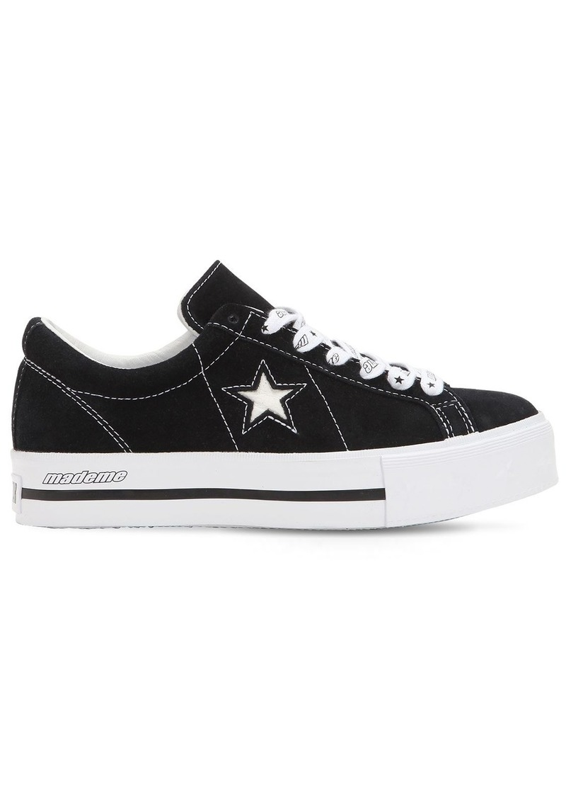 898094a05bae3c Converse Mademe One Star Suede Platform Sneakers