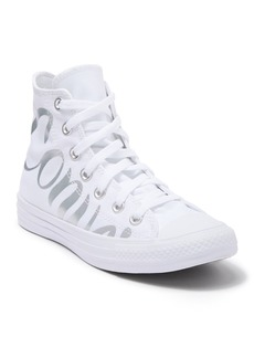 Converse Metallic Script Logo High Top Sneaker