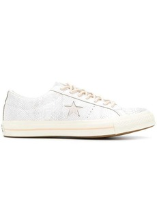 Converse One Star alligator embossed sneakers