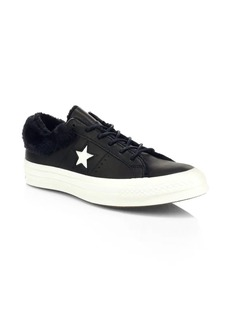 Converse One Star Faux Fur Low-Top Sneakers