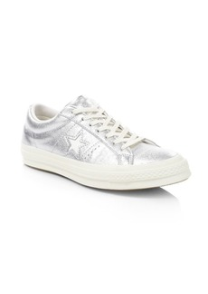 Converse One Star Metallic Leather Sneakers