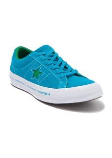 Converse One Star Oxford Jolly Hawaiian Ocean Leather Sneaker (Big Kid)