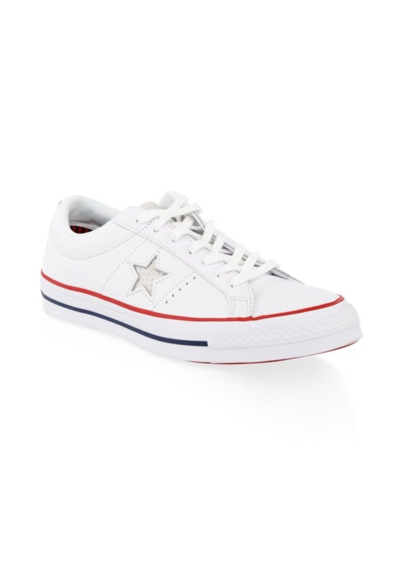 hot sale online 8e9f4 954e1 Converse One Star Ox White   Gym Red