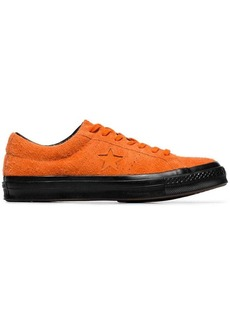 Converse orange one star suede sneakers