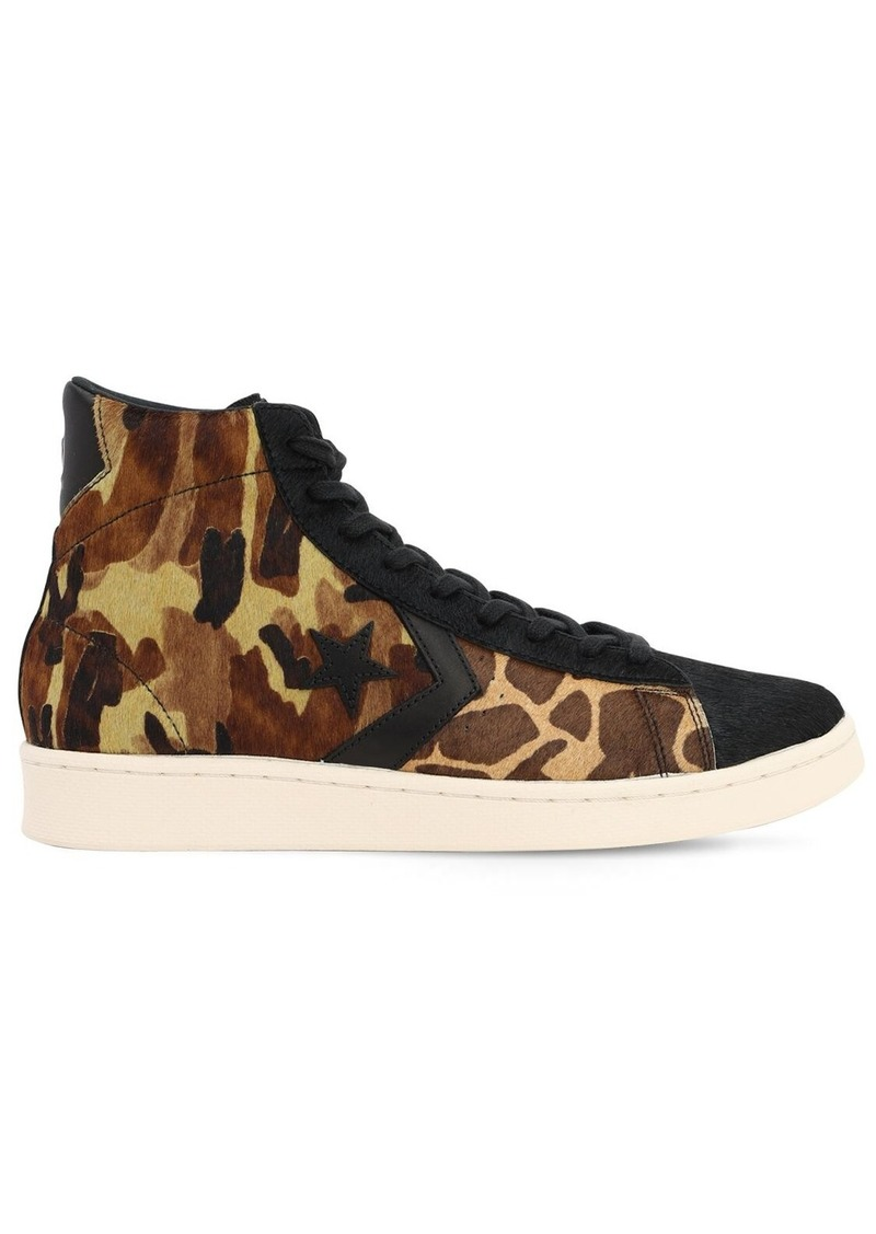 Converse Pro Leather Pony Skin Sneakers