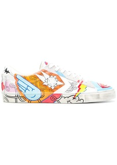 Converse Pro Leather Vulc hand-painted sneakers
