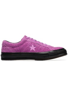 Converse purple One Star fuzzy sneakers