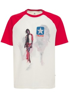 Converse Reversible Cotton Blend Raglan T-shirt