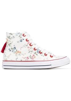Converse tassle detail floral print sneakers