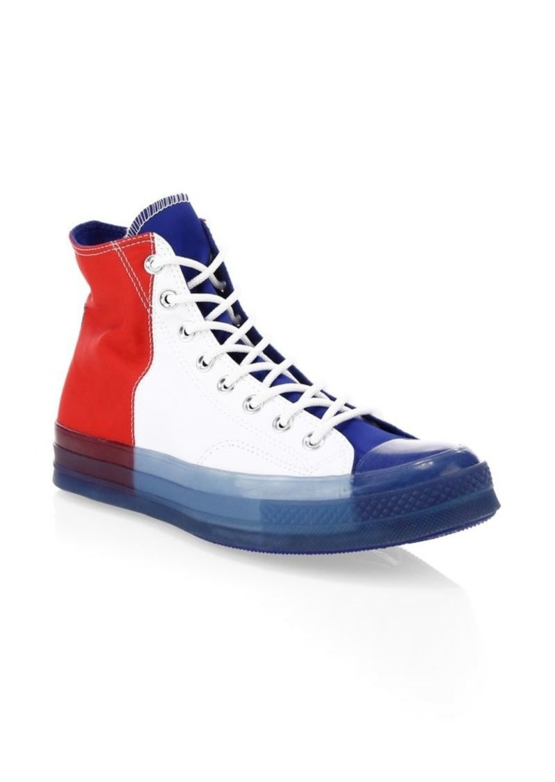 Converse Translucent Midsole Chuck 70 High-Top Colorblock Canvas Sneakers