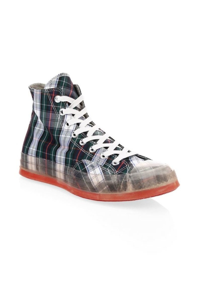 2c84d5dc4930 Converse Translucent Midsole Chuck 70 High-Top Plaid Canvas Sneakers ...