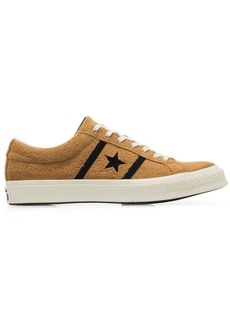 Converse yellow and black one star academy suede leather low top sneakers