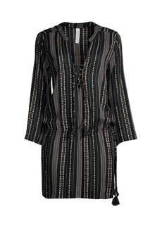 coolchange Chloe Horizon Stripe Tunic Dress