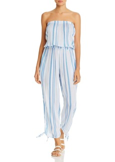 Coolchange Maya Striped Jumpsuit Swim Cover-Up
