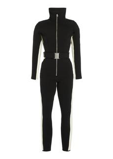 Cordova - Women's Cordova Signature Stretch-Jersey Ski Suit - Black/blue - Moda Operandi