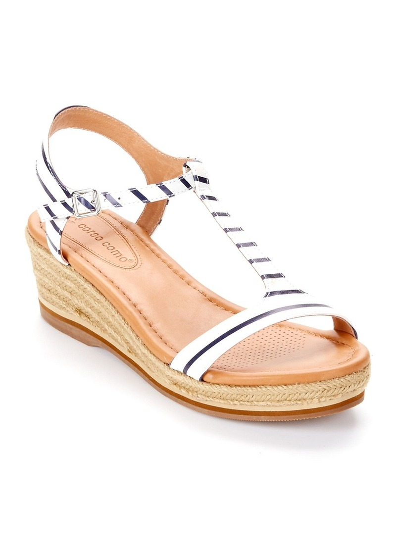 Corso Como + Chera Espadrille Leather Wedges
