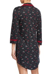 Cosabella Amore Printed Long-Sleeve Sleepshirt