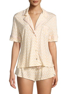 Cosabella Bella Geometric-Print Shorty Pajama Set