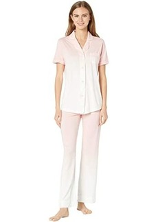 Cosabella Bella Print Short Sleeve Top Pants PJ Set