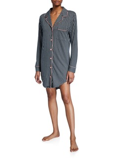 Cosabella Bella Striped Long-Sleeve Sleepshirt