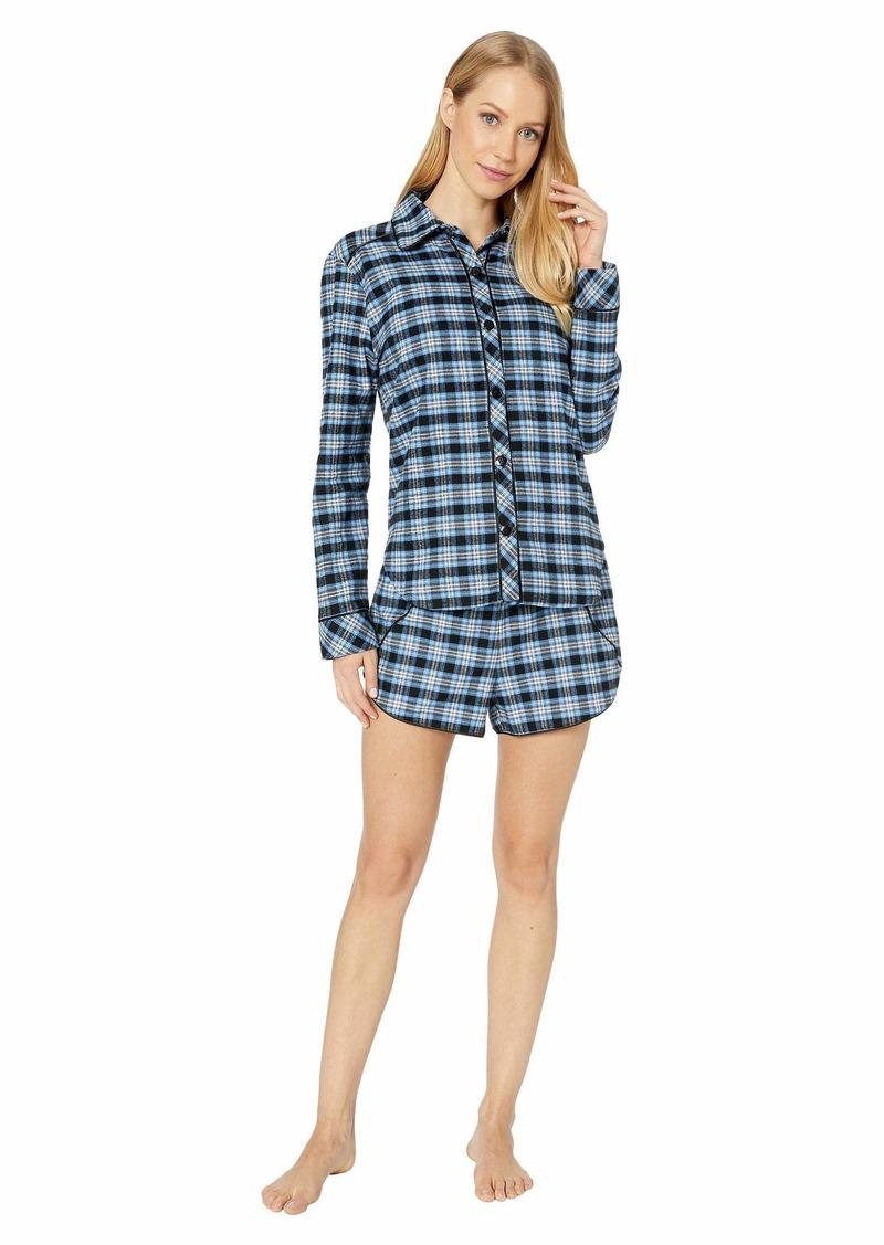 Cosabella Bella Warm Pima Flannel Shorts PJ Set