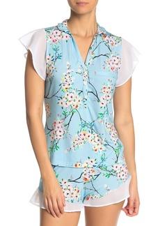 Cosabella Cadence Blossom Flutter Sleeve Pajama Top