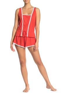 Cosabella Claire Lace Trim Tap Pajama Shorts
