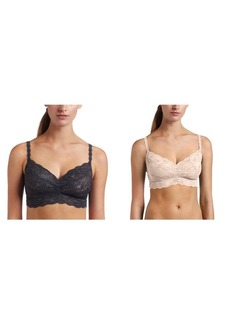 Cosabella 2 Pack Never Say Never Sweetie Soft Bra Anthracite/Pinolo /