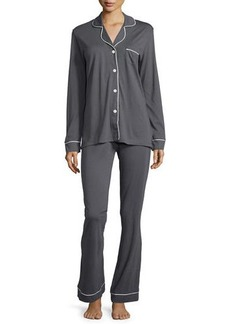 Cosabella Bella Contrast-Trim Long-Sleeve Pajama Set