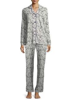 Cosabella Bella Dot-Print Long-Sleeve Pajama Set