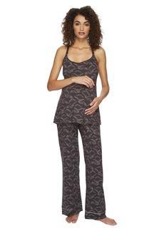 Cosabella Bella Maternity Print Amore Print Cam Pants Black PJ Gift
