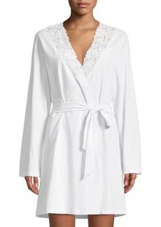 Cosabella Jazmine Lace-Trim Jersey Robe