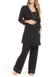 Cosabella Let Me Sleep Maternity/Nursing Pajamas & Robe Set