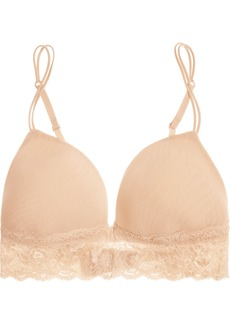 Cosabella Never Say Never Soire Lace-trimmed Mesh Soft-cup Bra