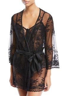 Cosabella Seymour Sheer Lace Robe