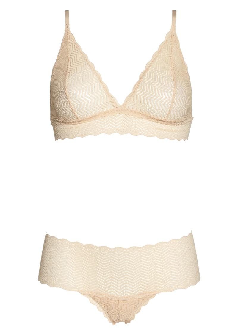 57114a550922 Cosabella Cosabella Sweet Treats Geo Bralette & Panty Set | Intimates