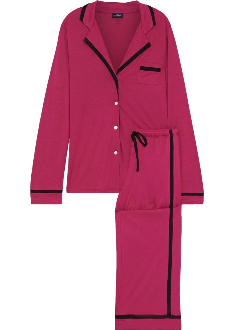 Cosabella Woman Amore Pima Cotton And Modal-blend Jersey Pajama Set Magenta