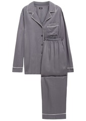 Cosabella Woman Bella Luxe Washed-twill Pajama Set Anthracite
