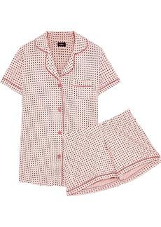 Cosabella Woman Bella Printed Pima Cotton And Modal-blend Pajama Set Peach