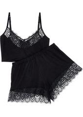 Cosabella Woman Brooklyn Lace-trimmed Stretch-jersey Pajama Set Black